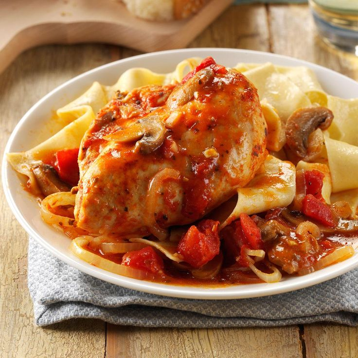 Contest-Winning Chicken Cacciatore Recipe -My husband and I operate a very busy farm. There are days when there's just no time left for cooking. It's really nice to be able to come into the house at night and smell this chicken cacciatore meal simmering—dinner is a simple matter of dishing it up. It's very easy to make, but it's also special enough to serve company. —Aggie Arnold-Norman, Liberty, Pennsylvania