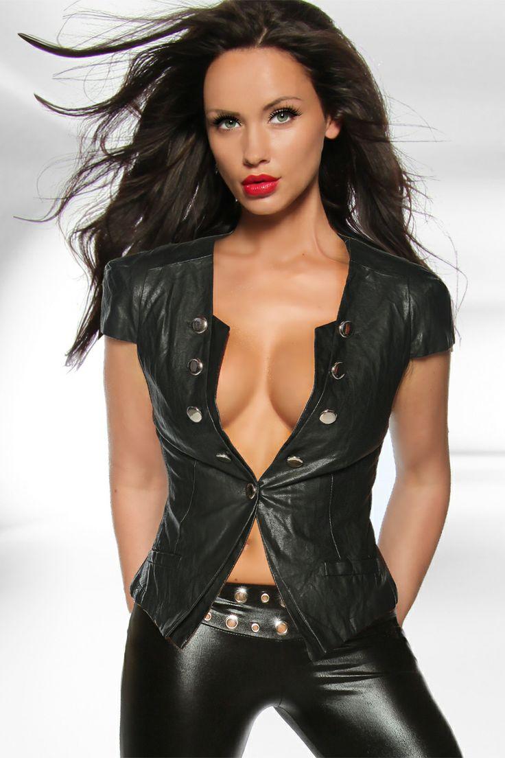 naked girls leather vest