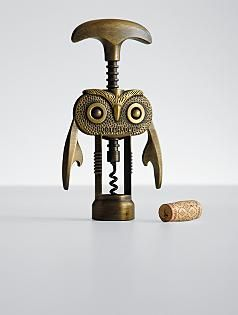 how cute and clever is this owl corkscrew??