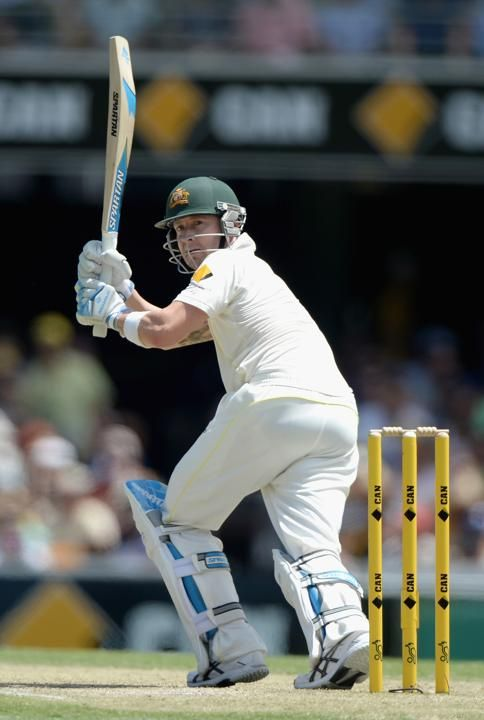 Australia captain Michael Clarke bats during day three of the First Ashes Test match between Australia and England at The Gabba on November 23, 2013 in Brisbane, Australia.