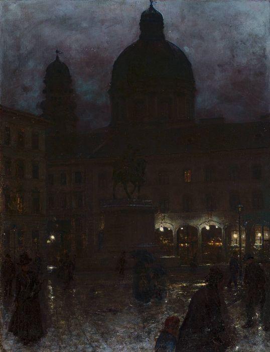 Munich at Night (Aleksander Gierymski - )