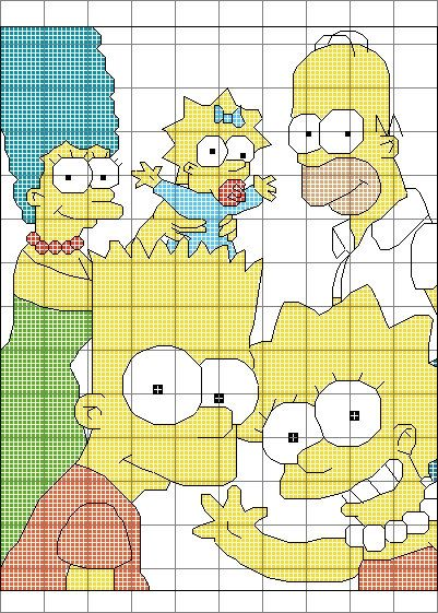 The Simpsons Cross Stitch Pattern by SynergyStitches on Etsy, £4.95