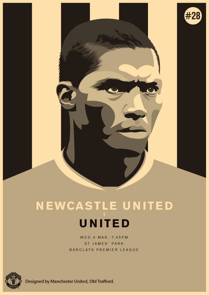 Match poster. Newcastle United vs Manchester United, 4 March 2015. Designed by @Manchester United.