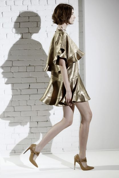 Good Love Gold Leaf Dress, Gold Mania Mania Wild West Bandana Neck Cuff, Silver Good Love Cowboy Pump, Tan