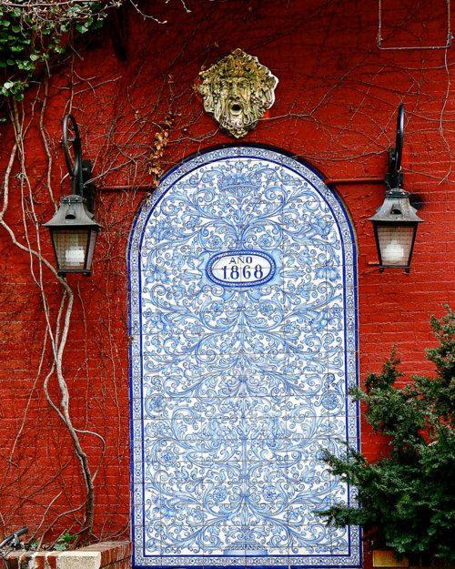 Blue West Village Painted Door: New York City,