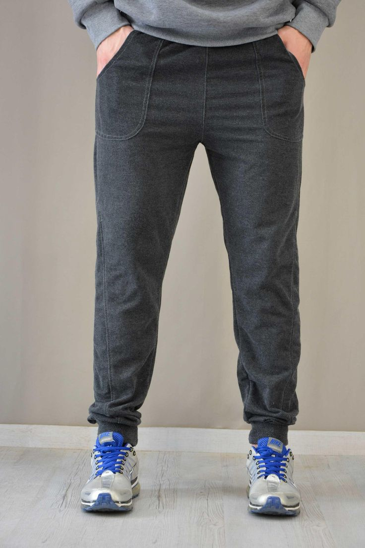 Ανδρικό παντελόνι φόρμας με λάστιχο  FORM-1033-gr Φόρμες αθλητικές