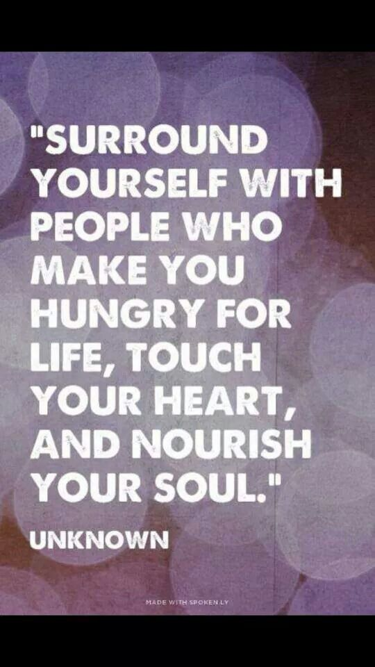 Don't let people consume your soul with negativity.
