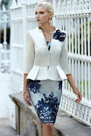 Vestidos de madrina cortos para bodas 2017 de mañana o mediodía. Ideales para madre de novio o novia. Modistería a medida y talla grande.