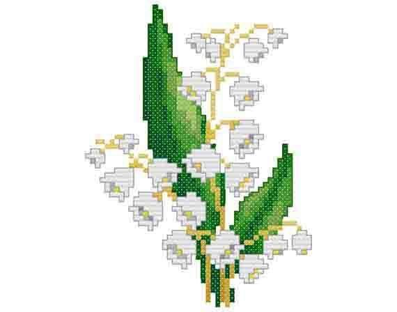 「lelietje der dalen in cross stitch」の画像検索結果