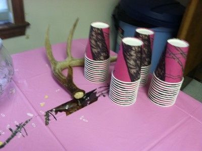 Pink Camo Baby Shower - pink camo cups