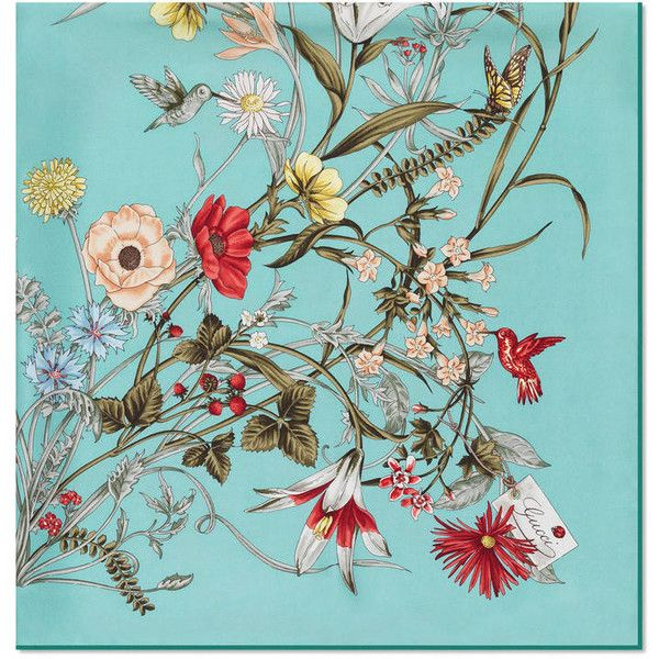 Gucci Flower Print Silk Scarf ($465) ❤ liked on Polyvore featuring accessories, scarves, backgrounds, floral scarves, gucci, silk scarves, floral shawl and floral print scarves