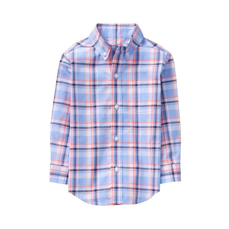 Boy Periwinkle Plaid Plaid Madras Shirt by Janie and Jack