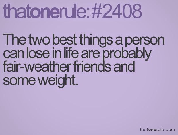 Let us first define  fair weather friends ...      Image Source       We all have encountered them at one point in our lives right...