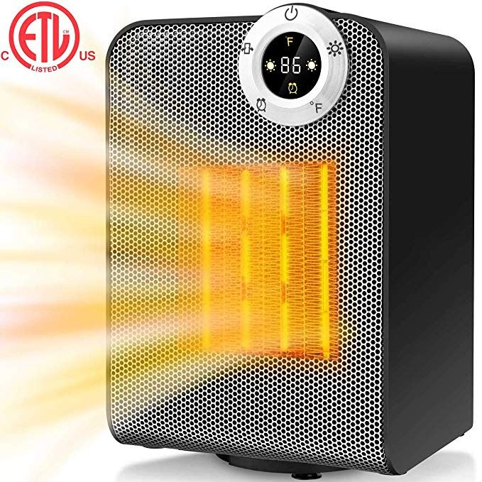 Amazon Com Gazeled Ceramic Portable Electric Heater Mini Space Heater With Overheating Tip Over Prot Space Heater Portable Electric Heaters Electric Heater