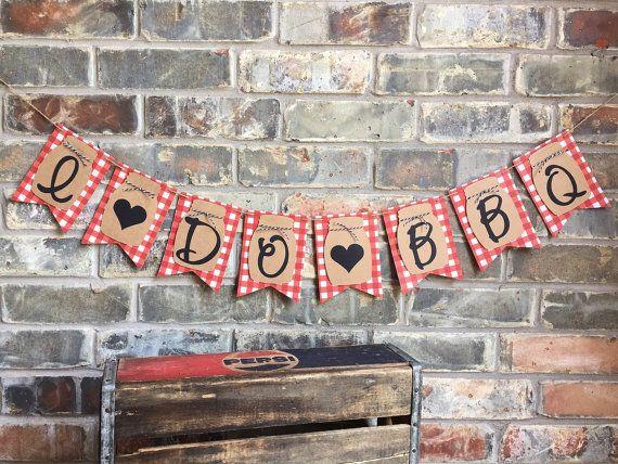 NEW Mason Jar BannerI Do BBQ BannerBBQ Engagement by Skrapologie