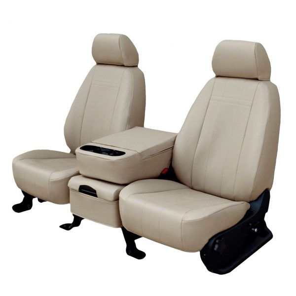 CalTrend I Can't Believe It's Not Leather – Faux Leather Seat Covers