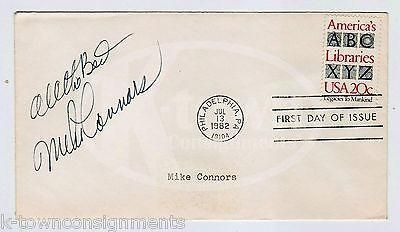 MIKE CONNORS MANNIX TV SHOW ACTOR ORIGINAL AUTOGRAPH SIGNED 1ST DAY MAIL COVER