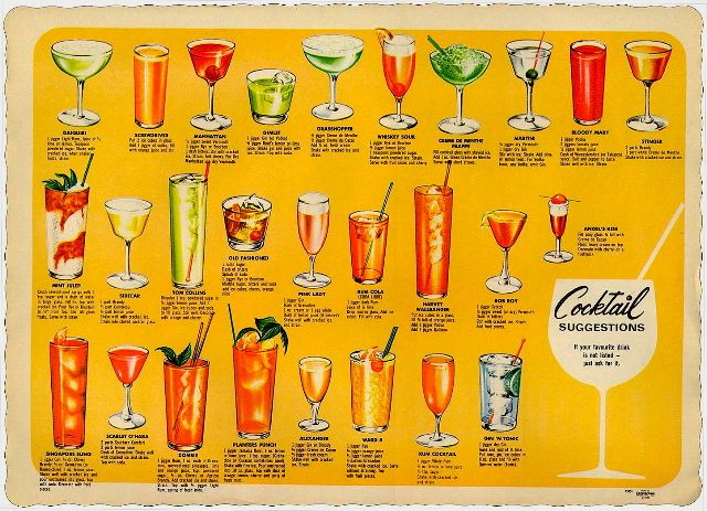 1970s cocktails - from my parent's dinner parties