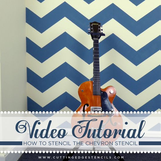 video tutorial tips tricks for using the chevron stencil, paint colors, painting, wall decor