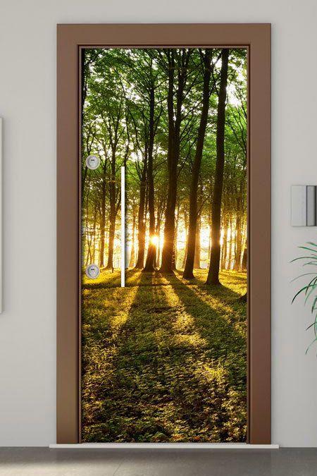 Door Mural Forest Self Adhesive Vinyl Decal Wall Sticker