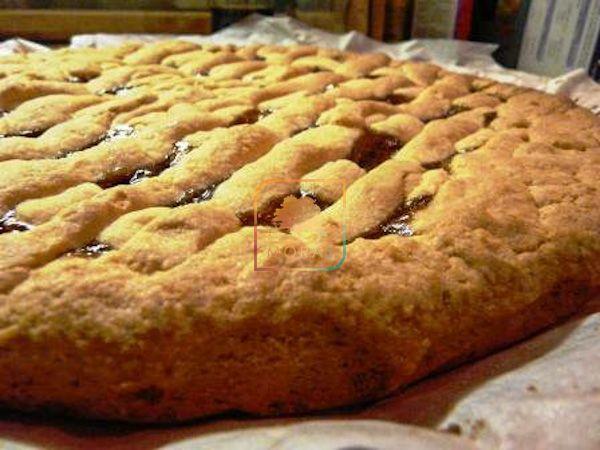 Crostata morbida con farina di riso Molino Moras alla marmellata di fragole