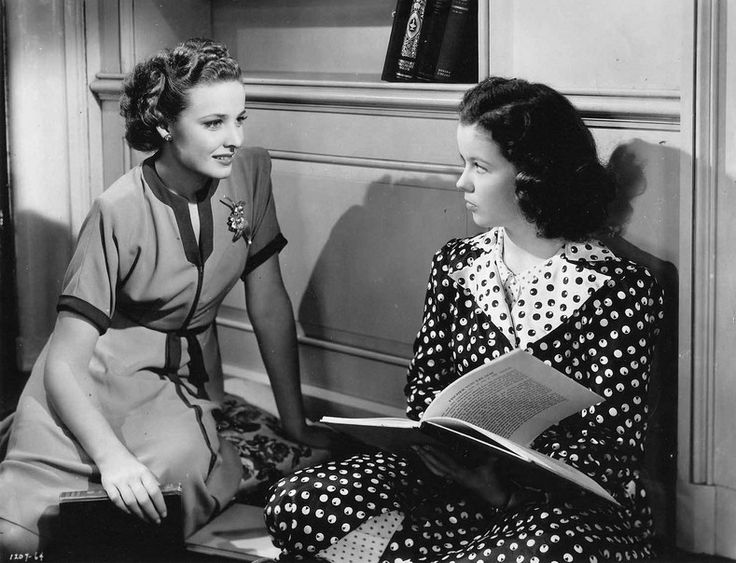 Laraine Day and Shirley Temple in Kathleen (1941). I love Herbert Marshall, too, so the cast is perfect in this teen angst film with an adult love triangle, too. One of my favorites I never erase from my DVR since it's not on DVDl