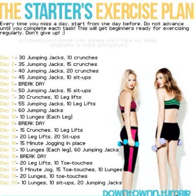 Gotta Start Somewhere! ExercisePlan