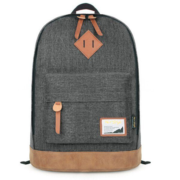 Hotsell Pig Nose Denim Students Leisure Backpack Teenagers School Book Bags Ruck - US$30.25