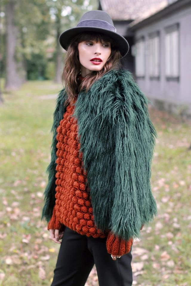 Hat hathat hats headwear autumn sweater fur velvet hathat.pl