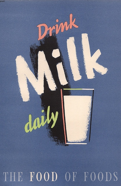 Drink Milk Daily - poster by Ashley Havinden