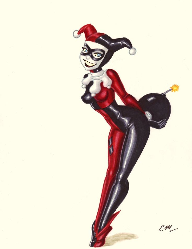 Harley's Surprise by ~em-scribbles on deviantART  --Be your own Whyld Girl with a wicked tee today! http://whyldgirl.com/tshirts