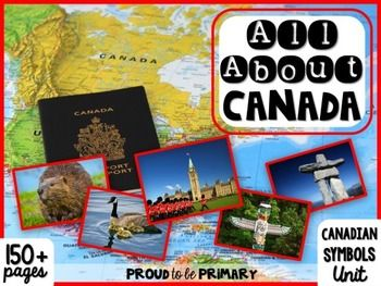 This All About Canada ~ Canadian Symbols unit has 160 pages of social studies activities to teach your students about Canada and its important symbols! There are 12 Canadian symbols included (listed below). This comprehensive unit is great for Canadian classrooms and International classrooms learning about Canada. www.proudtobeprimary.com