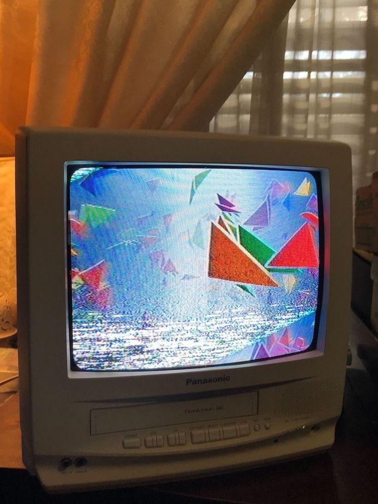 "Panasonic PVQ-1300WA White 13"" TV VCR Combo with Remote   #Panasonic"