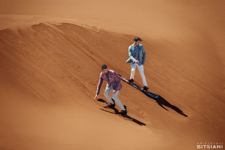 Official campaign of Spring/Summer 2015 collection #aristotelibitsiani #erimos #sandboarding #fashionshooting