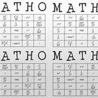 MATHO (Math Bingo) laws of exponents