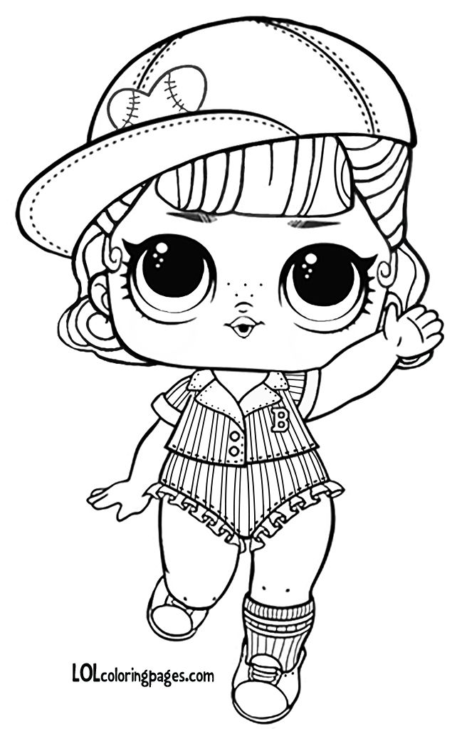 Short Stop Series 3 Wave 2 L O L Surprise Doll Coloring Page