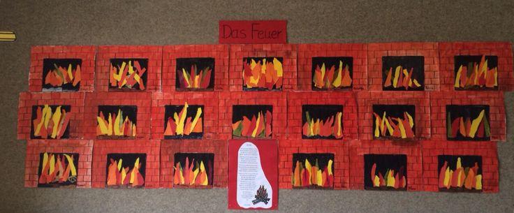 """Kaminfeuer nach dem Gedicht """"das Feuer"""" von James Krüss"""