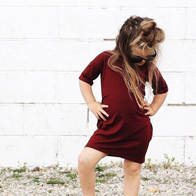 Bamboo Dress, Girls Dress, Girls T-Shirt Dress, Toddler Dress, Kids Dress, Hipster Kids Clothes, Urban Kids Clothes, Fashionista, Trendy Kids, Fashion for Kids, Girls Fashion, Made in Canada