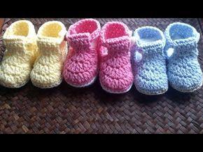 Tutorial Botas Bebé Crochet o Ganchillo en Español - YouTube