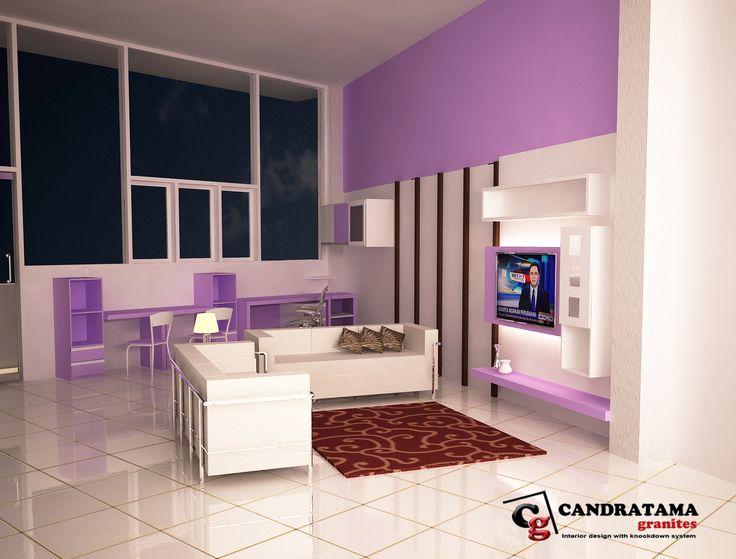 interior kediri - interior malang - interior nganjuk - interior blitar - interior jombang - interior tulungagung - interior trenggalek - ruang keluarga - backdrop tv - ruang belajar - minimalis - modern