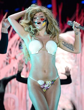 """In the last part of her performance, Gaga unveils her last """"persona"""" – an embodiment of the goddess Venus as depicted in """"The Birth of Venus"""" by Botticelli."""