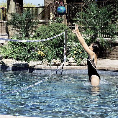 Interfab In-Deck Mounted Inground Swimming Pool Volleyball Game WS-VBALL GB-C