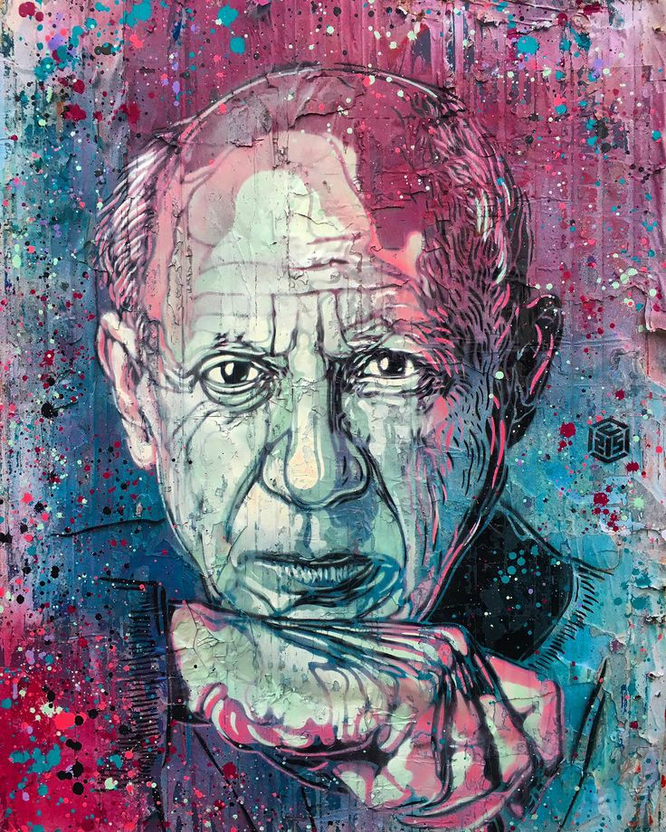 Pablo Picasso by C215.