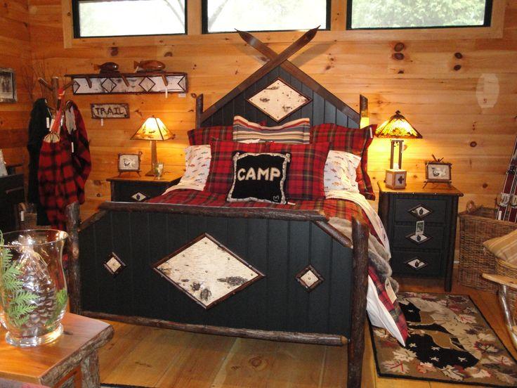 Adirondack style bedroom - Raybrook Frog