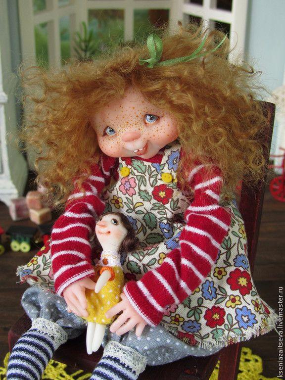 """Купить """"Мотя"""" - коллекционная кукла, авторская кукла, куклы ксении зайцевой, девочка, малышка, кудряшки"""
