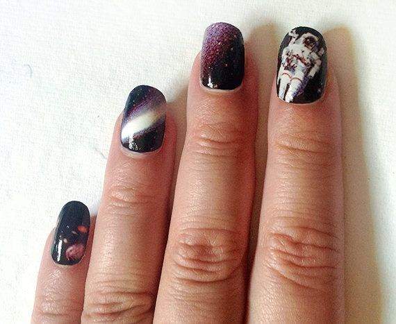 Nail Decals Space is the Place Like this.
