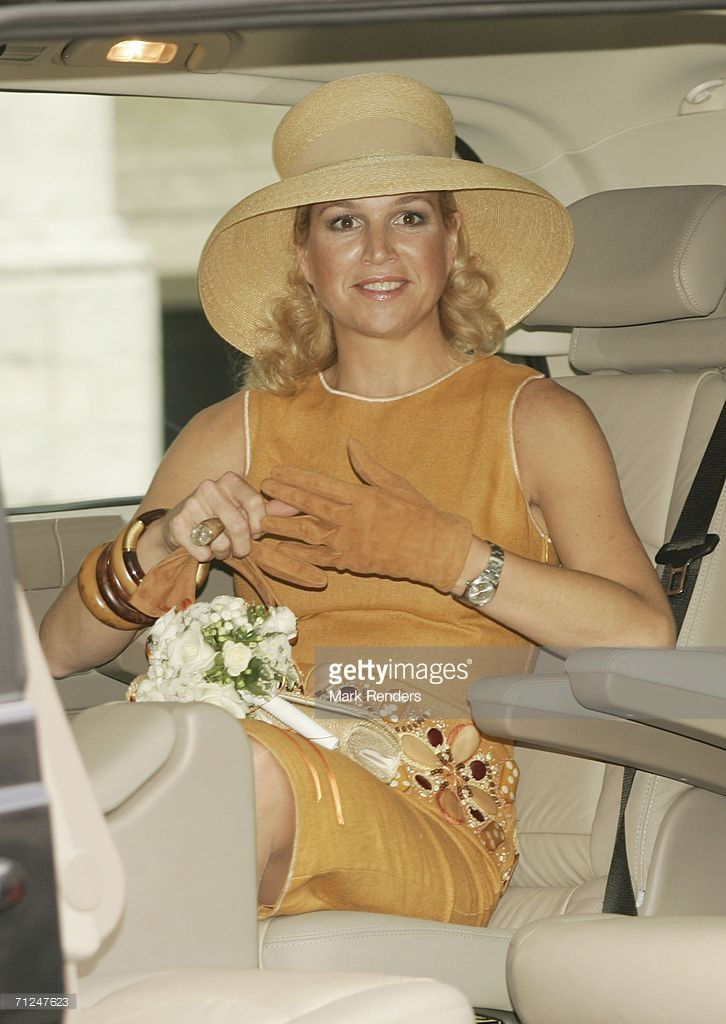 Princess Maxima poses at the Brussels Townhall as part of the three-day during visit of Queen Beatrix on June 20, 2006 in Brussels, Belgium.