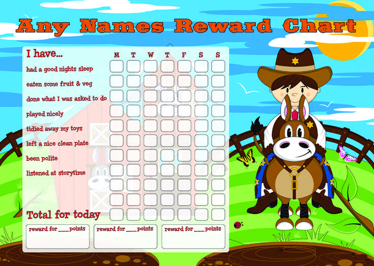 Personalised Childrenu0027s Gifts Billy the Kid Reward Chart - Follow - progress chart for kids