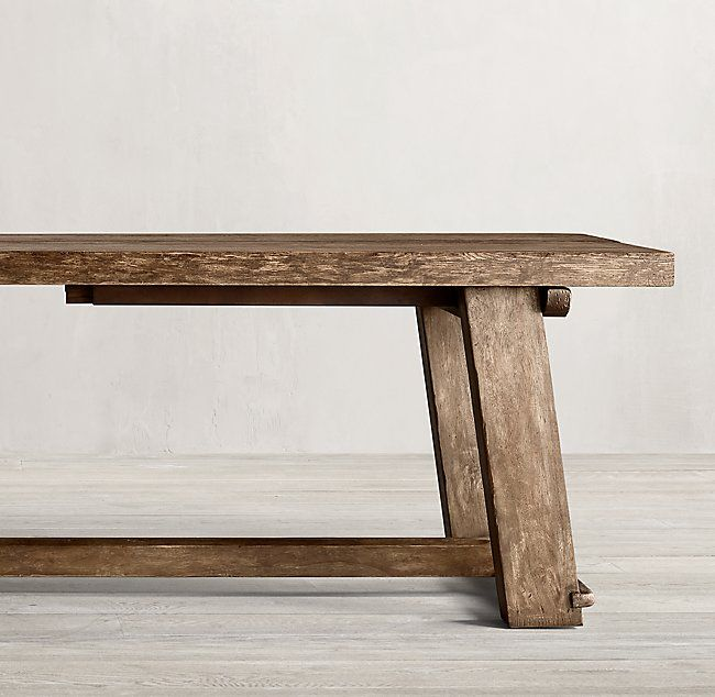 Italian Blacksmith Oak Rectangular Extension Dining Table