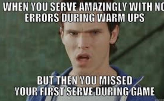 This happens to me all the time and I get so annoyed. I don't miss a single one during practice yet when I'm up to serve I miss. ughhhhhhh.